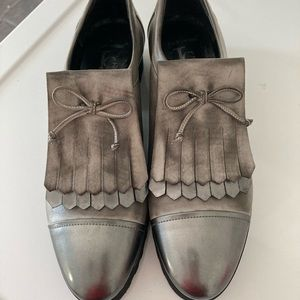 Luca Grossi made in Italy silver vibram loafers